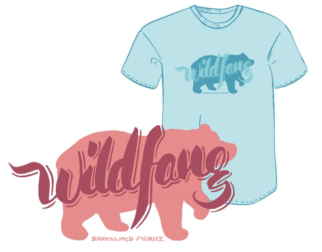 T-Shirt Print Wildfang Baer Lettering