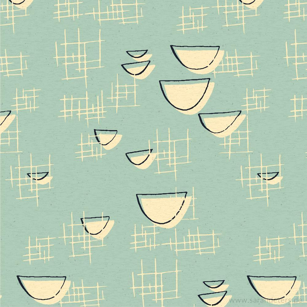 Muster Midcentury 50er Jahre Pastell patterndesign
