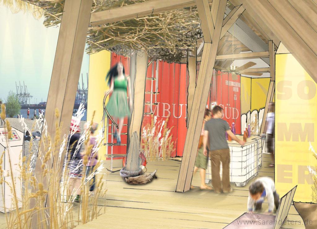 Visualisierung Ausstellungsgestaltung Illustration Raumdesign