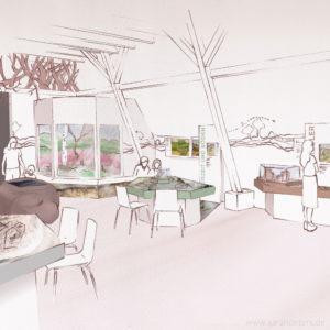 Infohaus Fischbeker Heide Raumdesign Sarah Deters