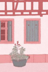 Strasbourg Illustration Fachwerk Sarah Deters