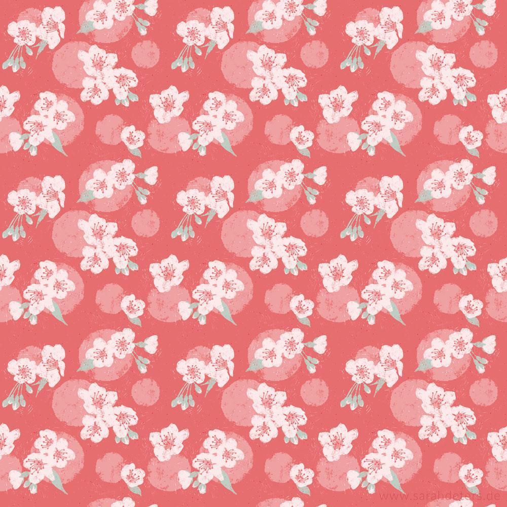 Muster Kirschbluete