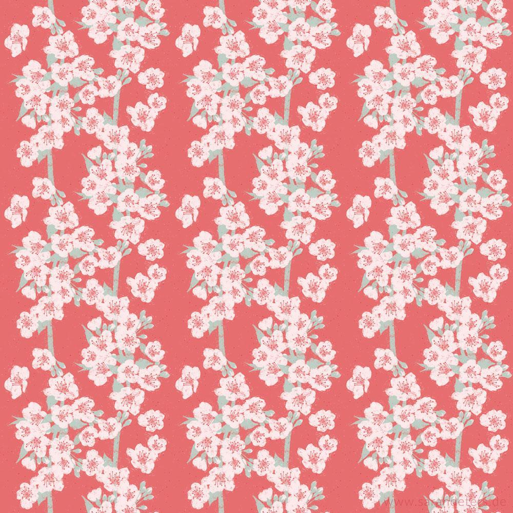 Pattern Kirschblueten patterndesign