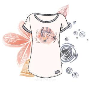 Fall Lettering Illustration Watercolor T-Shirt print design