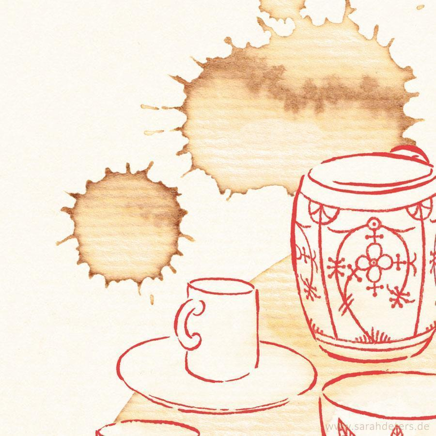 Kaffeetasse Muster Illustration
