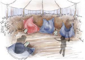 Natur-entdecker-pfad im BÄRENWALD Lehrpfad Illustration Müritz Sarah Deters