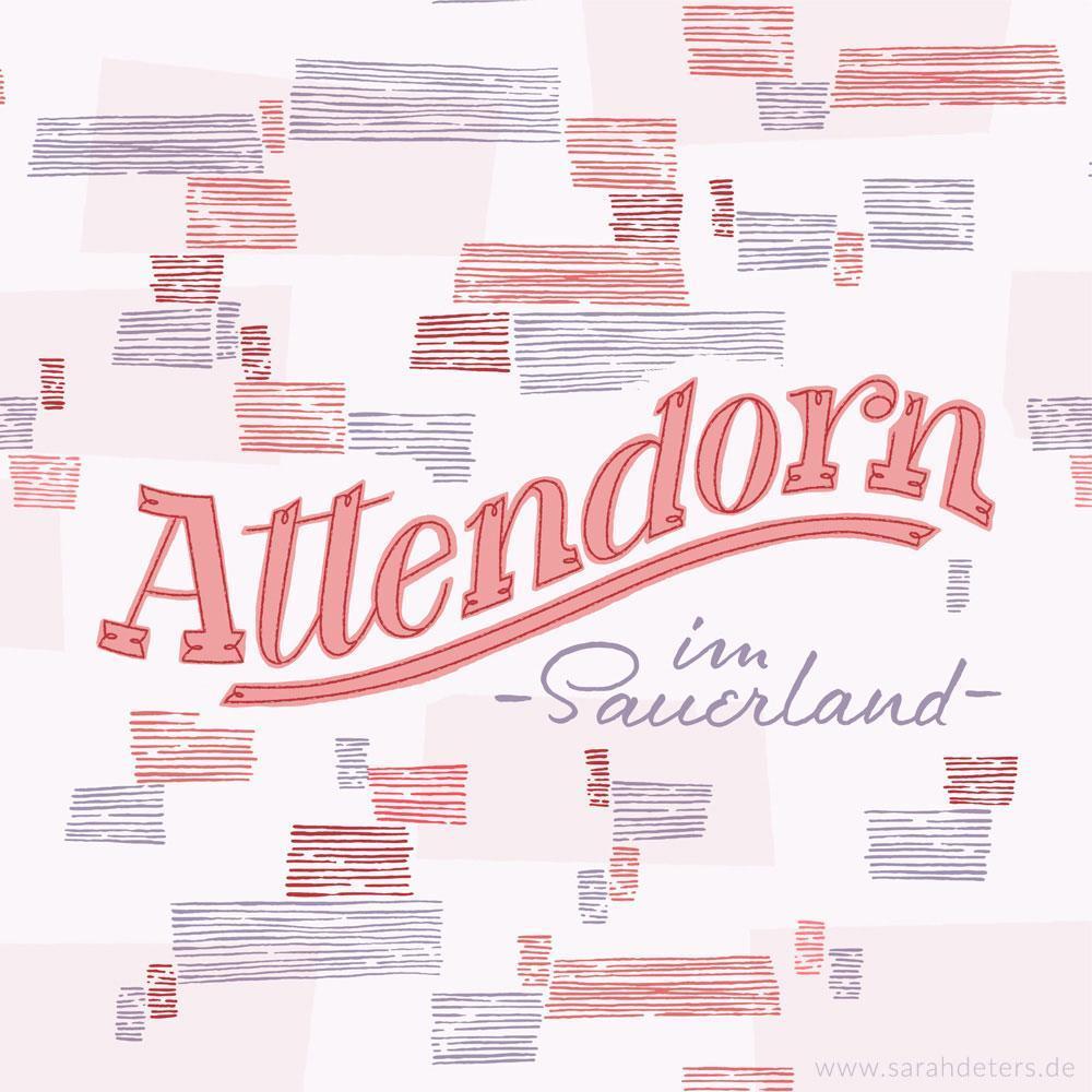 Hand-Lettering Heimatort Attendorn