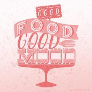 Good Food Good Mood Hand-Lettering Sarah Deters