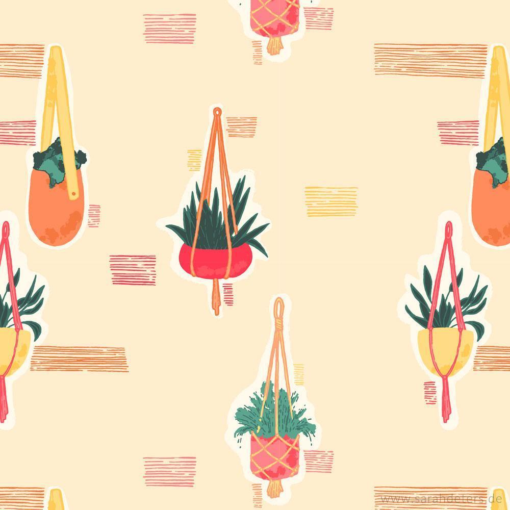 Muster Pflanzen Toepfe surface pattern