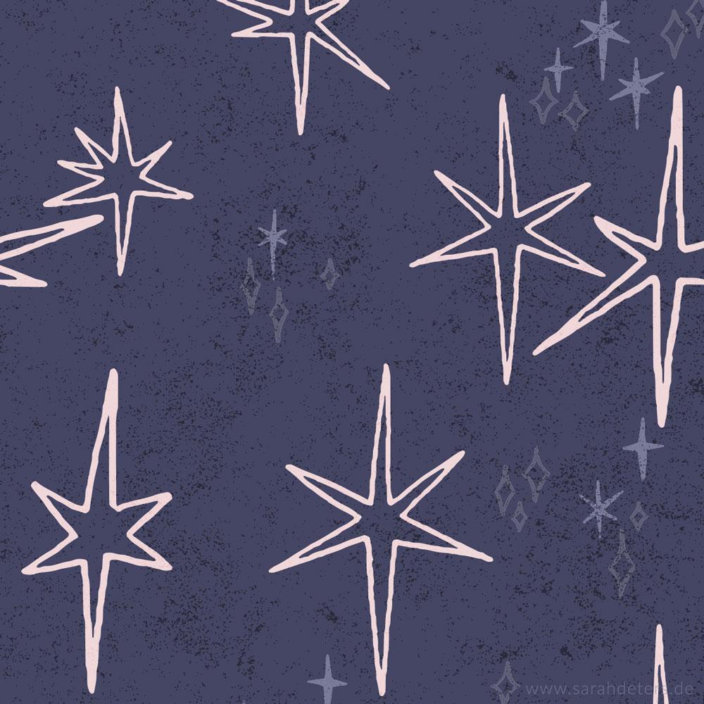 illustration weihnachten vintage sparkle stars Christmas surfacepattern