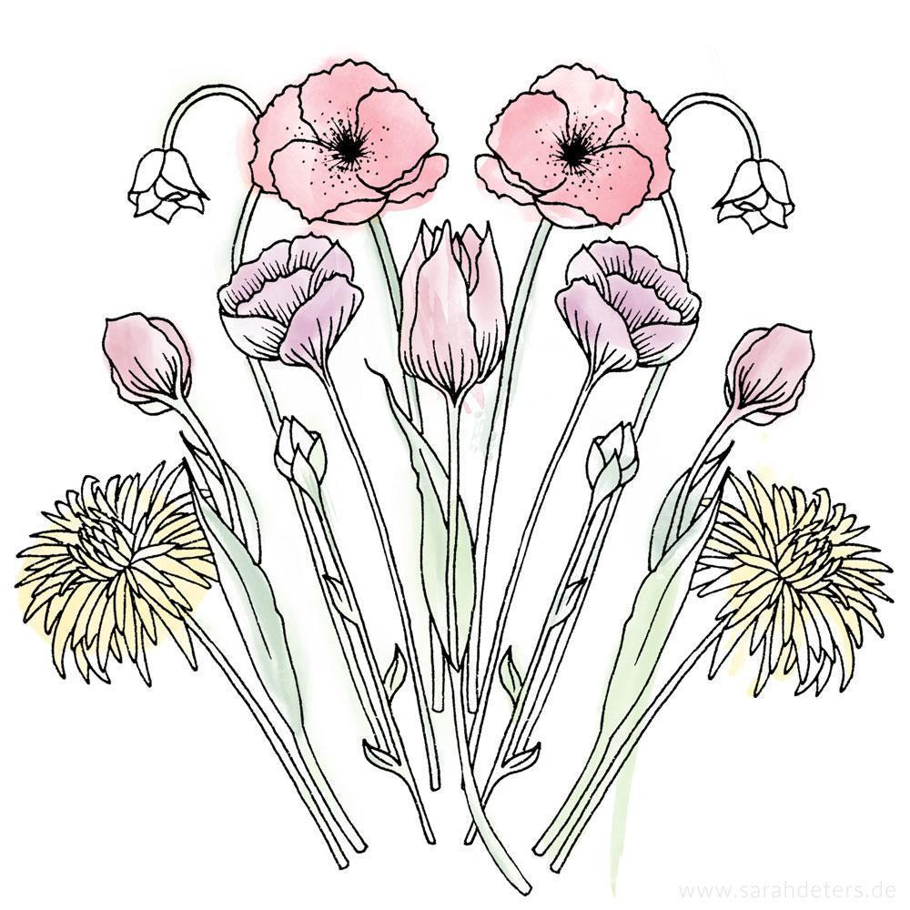Artwork floral illustration