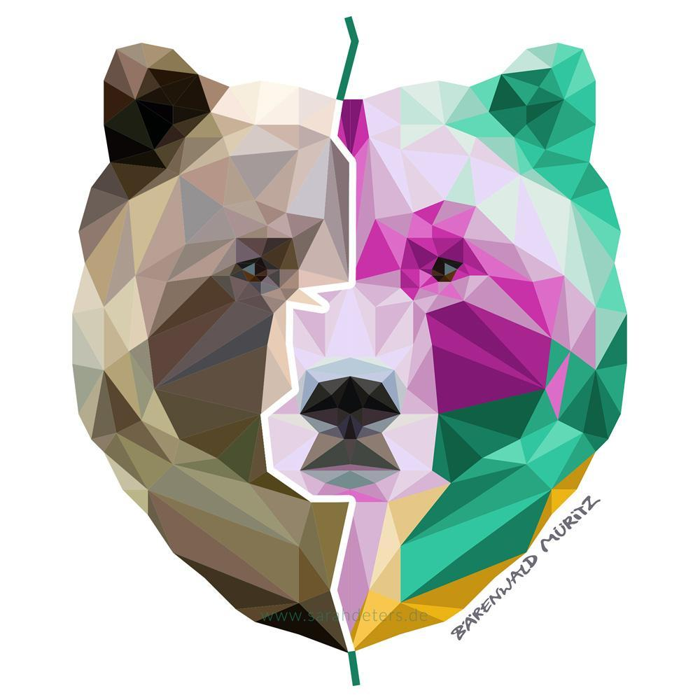 Illustration polygonal bear