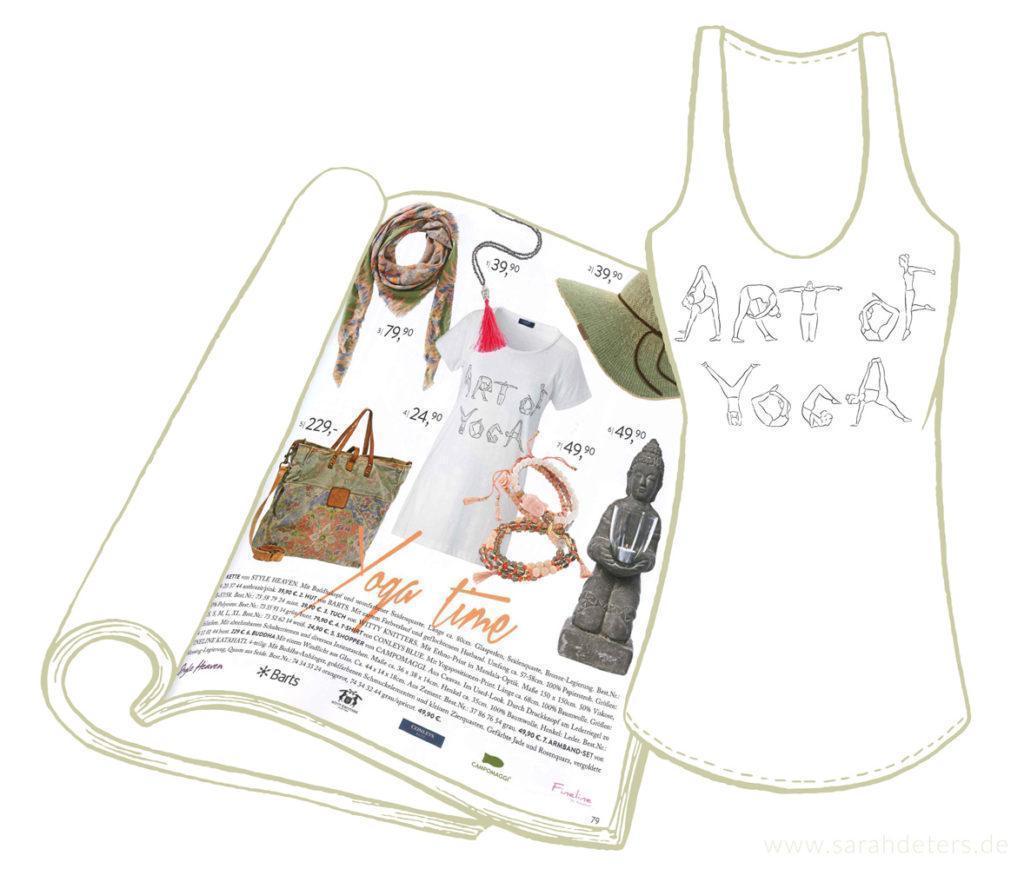 Art of Yoga Tank Top Artwork