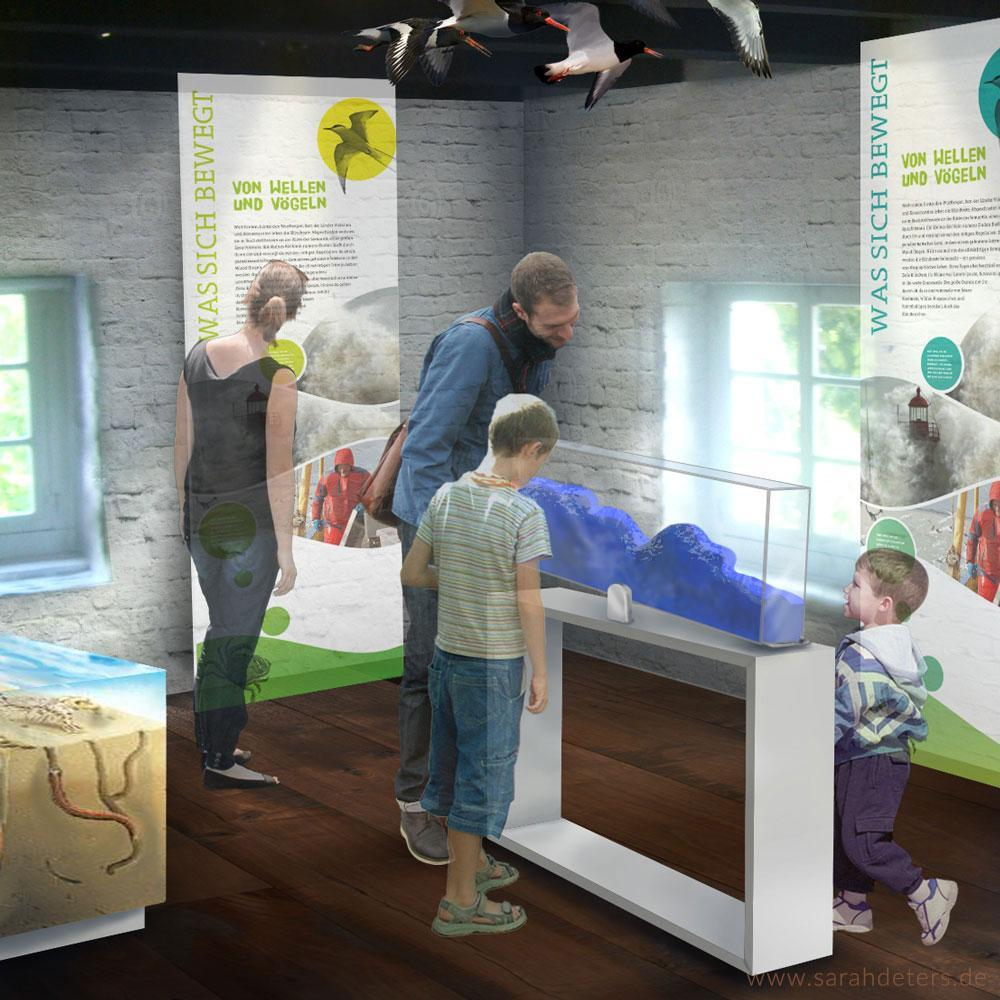 Ausstellungshaus Visualisierung Nationalpark Raumdesign