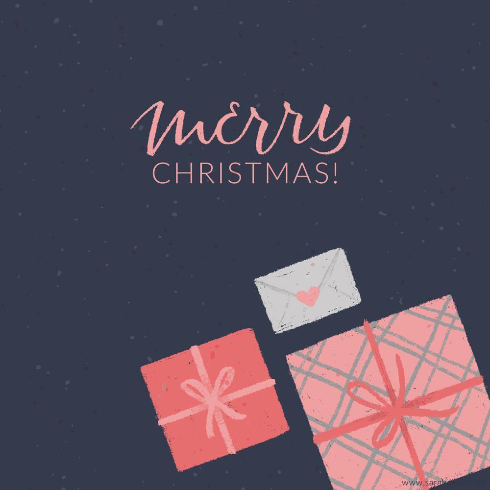 Tiny Gifts Geschenke Grusskarte Frohe Weihnachten