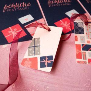 Tiny Gifts Geschenkanhänger und Postkarte Sarah Deters